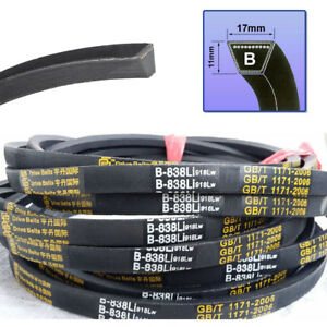 V Belt B Section 17mm*11mm Sizes B24~B119 High Quality For Industrial LawnMower