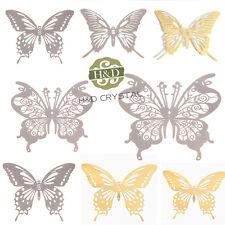Set 8 Suncatcher Hanging Metal Prism Feng Shui Window Butterfly pendant sticker