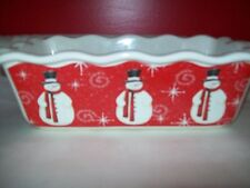 BED BATH AND BEYOND SNOWMAN LOAF PAN BAKER