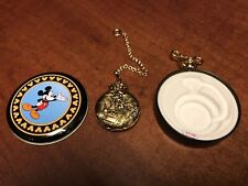 Mickey Mouse Unlimited Pocket Watch With Tin Verichron Quartz Dela1113