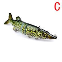 New Pike Muskie Fishing Bait Lure Swimbait Life-like Baby Multi-jointed C #ur