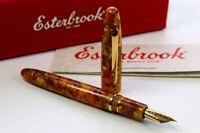 Esterbrook Estie Honeycomb Gold Füller Fountain Pen Edelstahl-Feder E426 -M- Neu