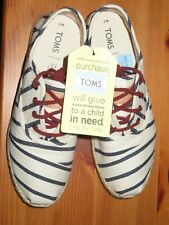 Authentic TOMS Cordones Natural Woven Rivera Stripe On Rope Women's Sneakers S 7