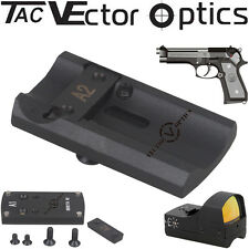 Tactical Red Dot Scope Reflex Sight Pistol BERETTA 92 Slide Mount Base