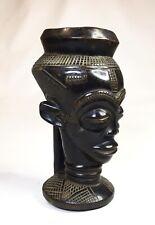 African Tribal Art Carving Wood Kuba Cup Congo Africa