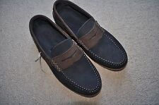 New Men's Charles Tyrwhitt Loafers Boat Deck Shoes Navy Brown Suede Size 9 43