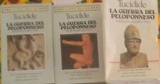 LA GUERRA DEL PELOPONNESO Tucidide 1993 I CLASSICI DELLA BUR RIZZOLI 3 volumi +