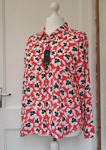 M&S COLLECTION CORAL MIX BLOUSE SIZE 16 BNWT