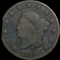 1829 Coronet Head Large Cent, Medium Letters, Collectors Coin