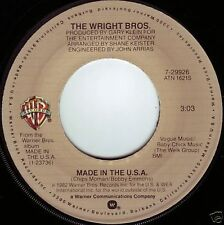 WRIGHT BROTHERS Made In The USA b/w Words Of Love ((**NEW 45**)) from 1982
