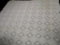 "ANTIQUE HAND CROCHETED BEDSPREAD COVERLET with BIRDS 88"" WIDE x 80"""