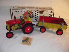 Blechspielzeug Traktor Zetor mit Anhänger (rot/gelb) von Kovap