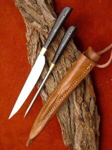 Mittelalter Messer mit Esspfriem +Scheide Wikinger; Kelten handgeschmiedet 4281