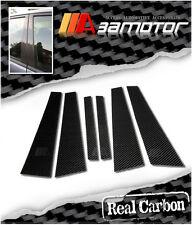 CARBON FIBER DOOR PILLAR PANEL COVERS for 2003-2010 BMW E60 5-SERIES SEDAN & M5