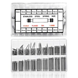 144/270/360 Pack Stainless Steel Spring Bar Pins Link For Watch Strap 8-25mm 4E