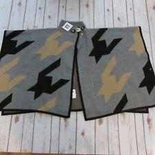 NWT Women's Anne Klein Geometric Black Brown Gray Cape Sweater Coat size S  $159