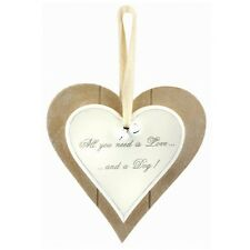 LOVE OF A CAT OR DOG DOUBLE HEART PLAQUES