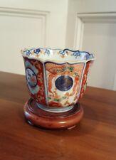 ANTIQUE JAPANESE IMARI PORCELAIN CUP / BOWL BLUE WHITE GOLD ORANGE  c.1800
