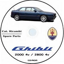 Maserati Ghibli MY 1992.Catalogo ricambi.Spare Parts Maserati Ghibli