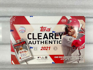 2021 Topps Clearly Authentic Baseball Hobby Box FACTORY SEALED
