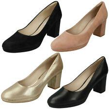 Suede Upper Court Shoes Standard (D) Block Heels for Women