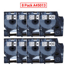 8PCS For DYMO D1 45013 12mmx7m Label Tape Spare for Labelwriter Tapes 120P 210D