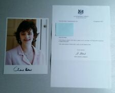 Autograph - Cherie Blair - Live ink on photo and Downing Street letter