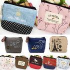 Retro Small Canvas Purse Zip Wallet Girls Coin Card Case Bag Handbag Key Holder