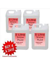 4 x High Quality Snow Fluid 5L Liquid Suitable Most Snow Machine Large Bottle