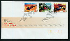 2010 Great Railway Journeys S/A FDC First Day Cover Stamps Australia