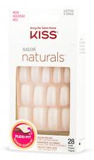 Kiss Salon Naturals Chillax False/Fake Nails 28 Pk 7 Day Wear KSN02 BNIP