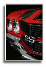 1970 Chevrolet Chevelle SS Photo Print 13x19 Mancave Art Red Muscle Car 396 454