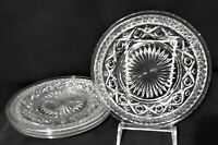 """Vintage IMPERIAL GLASS (4) Salad Plates CAPE COD Clear 8-1/4"""" MINTY!"""