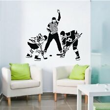Three Ice Hockey Player Skater Sport Sports Wall Decal Wall Sticker Vinyl Decor