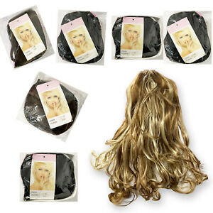 Thick Claw Clip In Hair Extensions Ponytail  Blonde Curly As Natural Human Hair