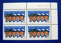 Sc # 3174 ~ Plate # Block ~ 32 cent Women In Military Service Issue