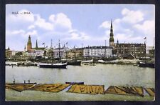 9066 Latvia,1925,Unused colour postcard with view to river Daugava and to old