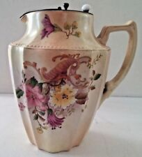 ANTIQUE~ CARLTON WARE FLOWER DESIGNED LIDDED PITCHER~465656~1906-1927 Markings
