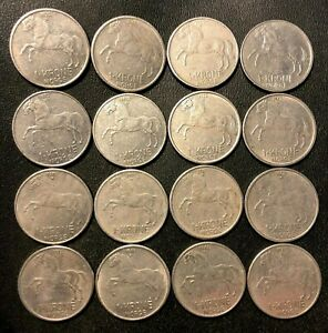 Vintage Norway Coin Lot - KRONE - HORSE SERIES - 16 COINS - LOT #L22