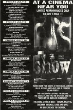 """3/7/93PGN29 THE CURE THE SHOW ADVERT 7X5"""""""
