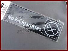 Information Sign ~ No Smoking (E-CIG)   Durable  ~ Easy Adhesive Hanging ~ New
