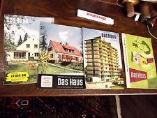 4 Hefte, Zeitschriften, Illustrierte, Das Haus, 1957, 2 x 1958, 1955