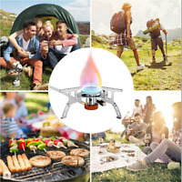 Portable Outdoor Picnic Gas Burner Foldable Camping Mini Steel Stove + Box