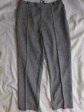 NEW M & S Grey Tweedy Smart Fixed Pleat Trousers Size 14 Euro 42 Medium