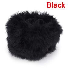Women Warm Winter Faux Fur Muff Plush Cuff Oversleeve Wristband Elastic Gloves O