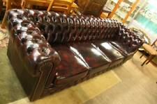 A 100% Leather Chesterfield 4 Seater Sofa with 5 Year Warranty 2.6 Metres