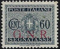 G.N.R. - 1944 - Segnatasse - cent.60 BS - nuovo gomma integra - Sorani