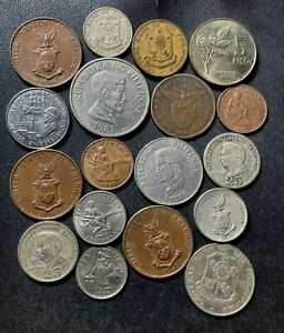 Old Philippines Coin Lot - 1905-Present - 18 Vintage Coins - Lot #A7