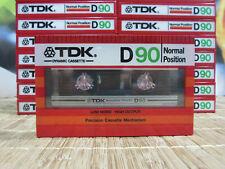 1 X TDK D90 1982 VINTAGE CASSETTE. TYPE I. LOW NOISE. MADE IN JAPAN. NEW SEALED.