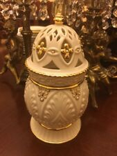 Lenox Illuminations Florentine & Pearl Domed Candle Jar New